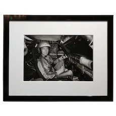 Paul Newman -Inside a Race car - Vintage Silver Gelatin Photograph c1960s