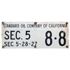 Standard Oil Company of California -original 1920s Porcelain Sign