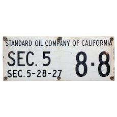 Standard Oil Company of California -original 1920s Porcelain Sign