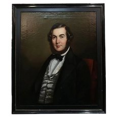 19th century Portrait of Joseph Doel - Oil painting circa 1840s