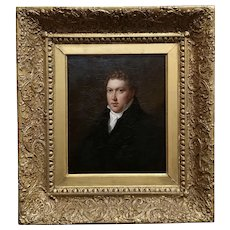 19th century Continental School -Portrait of a Gentleman-Oil painting c1840s