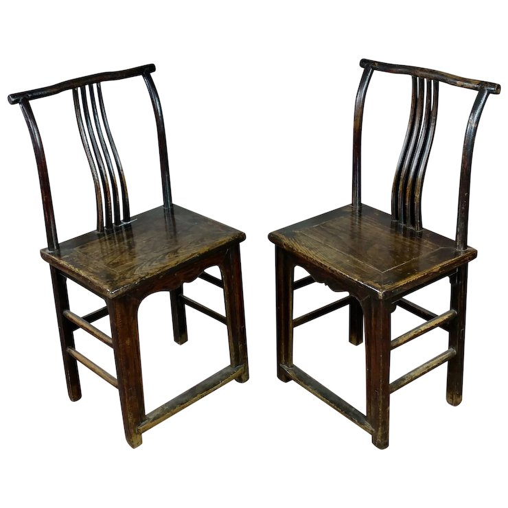 Antique Chinese chairs- a Pair circa 1900s - Antique Chinese Chairs- A Pair Circa 1900s : Pasadena Art Monkeys