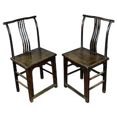 Antique Chinese chairs- a Pair  circa 1900s