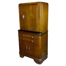 Art Deco Original 1930s Walnut Dental cabinet