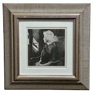 Andrew Wyeth -Portrait of Henrietta - Original 1967 etching