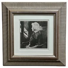 Andrew Wyeth -Portrait of Henrietta - Original 1967 etching
