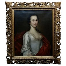 18th century Portrait of an English Aristocratic Woman -Oil painting