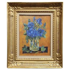Tony Agostini -Bouquet of blue Roses -  oil painting