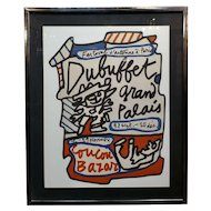 Jean Dubuffet - Coucou Bazar 1973 -Lithograph -Pencil signed and numbered