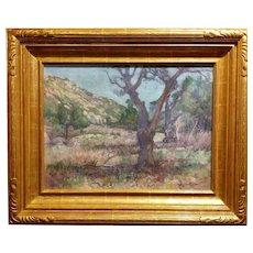 Charles Fries -Oaks & Hills near Mussey Grade- California Oil Painting