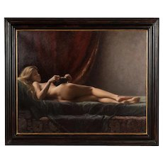"""Maureen Hyde """"A Tranquil Moment Nude Female""""Original Oil Painting"""