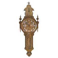 19th century Bronze Cartel Clock by Creusy Paris -Rare