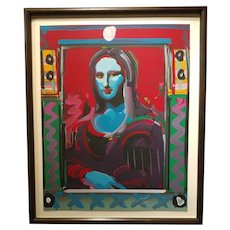 Peter Max - Mona Lisa - Serigraph -Signed & Numbered