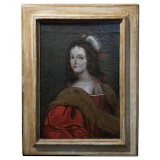 17th century Old Master-Portrait of an Elegant Woman- Oil painting