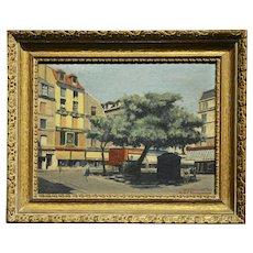 S.G. Garrett -Place de la Contrescarpe ,Paris 1963 - Oil painting