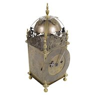 Antique English Brass Lantern Clock - Smeaton ad Londini 1727