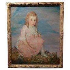 Olive Rush -Portrait of Louise Block -Oil Painting - c1900s