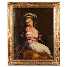 After Vigée le Brun -Self portrait -Beautiful 18th century Oil painting