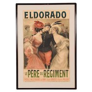 Eldorado Original 1905 Vintage French Poster- by Georges Redon -Framed