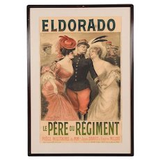 Eldorado Original 1905 Vintage French Poster- by Georges Redon -Framed