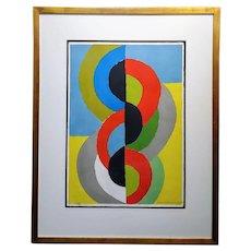 Sonia Delaunay -Demi Circles Rythme Couleur -1962 original signed lithograph