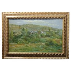 Manuel Valencia -Beautiful California Plein Air Landscape -Oil Painting c.1900s