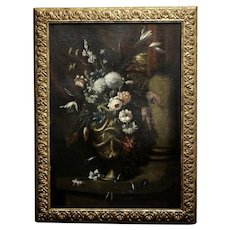 Magnificent bouquet of Flowers -18th century Oil painting