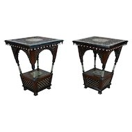 Beautiful intricate Moroccan Side table -A pair