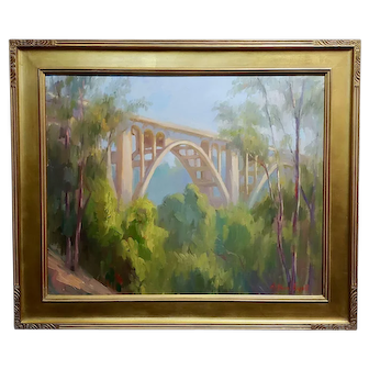 Arthur Bjorn Egeli - Colorado Street Bridge -Oil painting