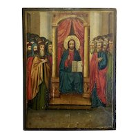 18th century Russian Icon -oil painting on wood board
