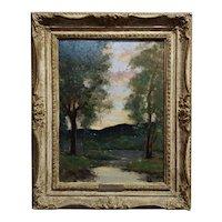 Dedrick Brandes Stuber -California Twilight - Oil painting- c1900s