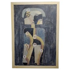 Miguel Castro Lenero -The Thinker  -Abstract - Oil painting