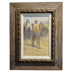Nicholas Samuel Firfires - Marlboro Man - Western Oil Painting -1968