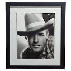 Randolph Scott - 1940s Hollywood Portrait by George Hurrell -Signed