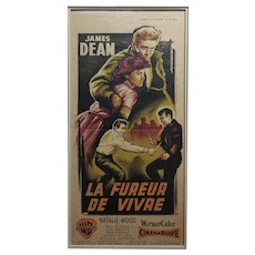 James Dean -Rebel Without a Cause -Original French Poster-c.1955