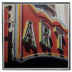 Robert Cottingham - Art - original signed Lithograph - c1970s