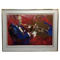 Leroy Neiman - Satchmo Louis Armstrong -Original 1976 Silkscreen -Signed