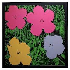 Andy Warhol Flowers -beautiful  Vintage Screenprint by Sunday B. Morning