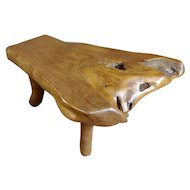 Hand-carved Vintage Teak Root Tree Coffee table