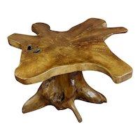 1960s Mid century Teak Root Hand carved Coffee table