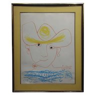 Pablo Picasso - Young Spanish Peasant- Lithograph on paper