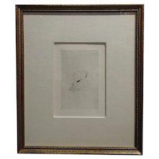 Toulouse-Lautrec - Portrait of a Man Profile - Original vintage Etching