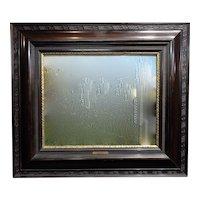 19th century Dutch Ebonized Wood Large Mirror or Painting Frame