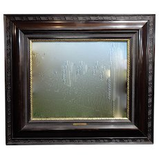 19th century Dutch Ebonized Wood Large Mirror or Painting Frame