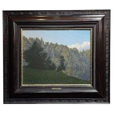 Walter Damerius - Green Trees -1883 German Oil painting