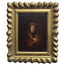 portrait of a Monarch -18th century Flemish oil painting