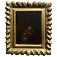 18th century Flemish Oil painting -2 Musicians