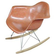 Herman Miller Vintage Fiberglass Rocking Chair -Red