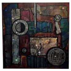 Antonio Arellanes - Lumenmatrix - Oil painting -Geometrical Abstract