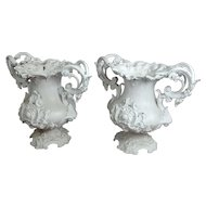 Fabulous Ornate Victorian Cast Iron Urns Planters -a Pair